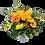 Blumenstrauß Smiley mit gelben Rosen und Gerbera