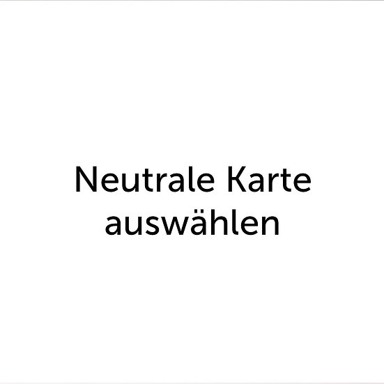 Neutrale Grußkarte