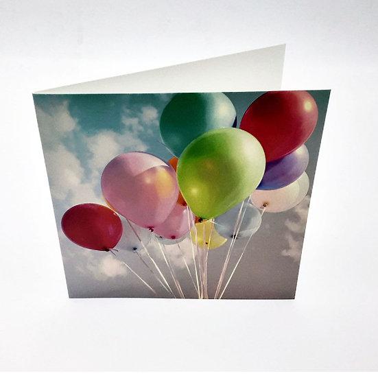 Grußkarte Luftballons