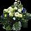 Blumenstrauß Ich denk an Dich mit weißen Rosen und Gerbera mit blauen Akzenten