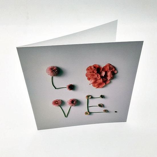 Grußkarte Love