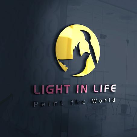 LIGHT IN LIFE לוגו לתרפיסטית באמנות