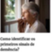 como identificar os primeiros sinais de demencia