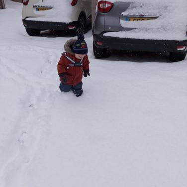 Knee Deep in Snow in Swanton Morley