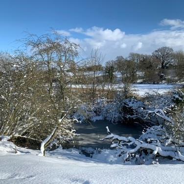 Frozen Water in Swanton Morley