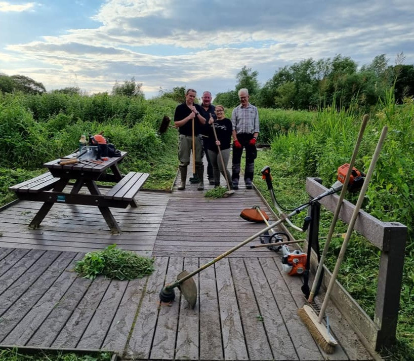 Councillors and Clerk tidying Burgh Common