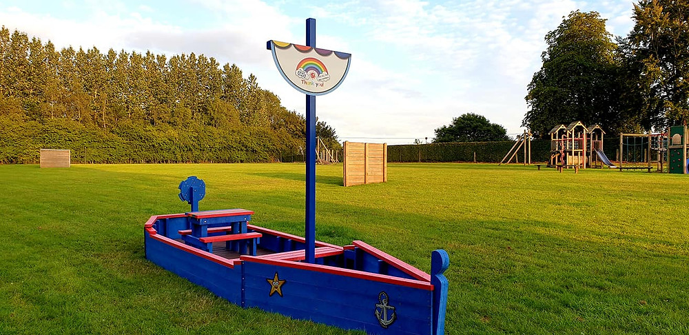 The new playboat in Swanton Morley playground