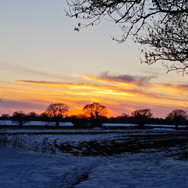 Sunset and Snow, Swanton Morley