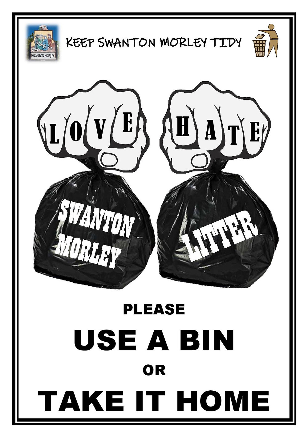 Swanton Morley litter campaign poster