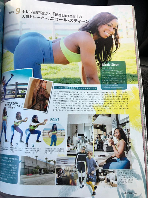 Nicole Steen's Booty Workouts named as one of the Top 10 things to do when visiting LA by Japanese Magazine