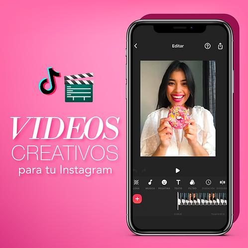 🎥VIDEOS creativos para tu contenido de INSTAGRAM😍