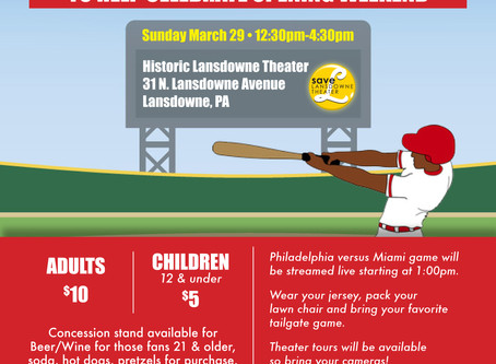 Celebrate Baseball Opening Weekend with Us, March 29th!