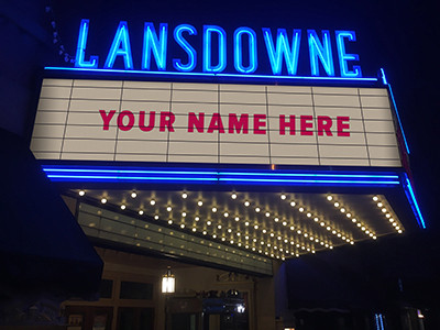 See Your Name In Lights!