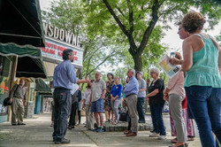 HLTC supporters learn about facade resto