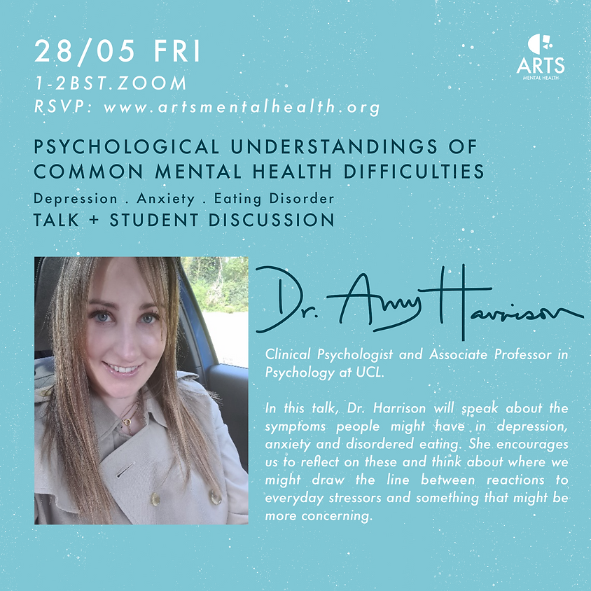 Talk + Student Discussion: Psychological Understandings of Common Mental Health Difficulties