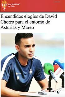 David Chorro. Preparador físico en fútbol profesional. Sporting de Gijón