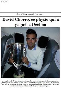 David Chorro. Preparador físico en fútbol profesional.