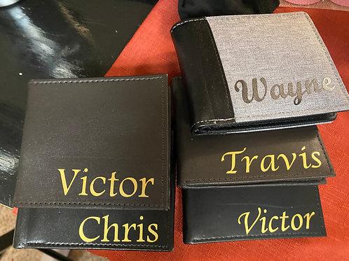 Men's personalized wallets