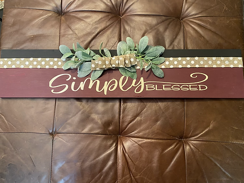 Simply Blessed Wall Sign