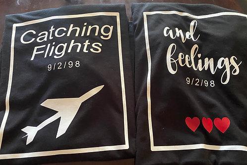 Catching Flights & Feelings T-Shirt Combo