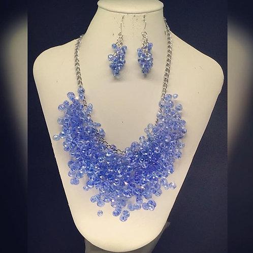 Blue Floating Crystal Set