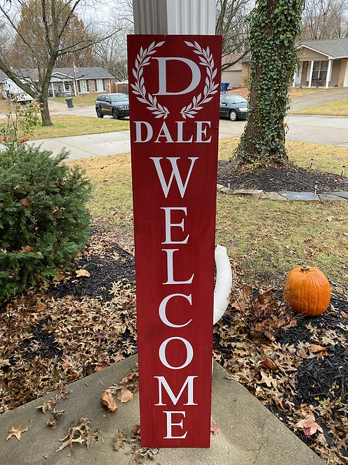 Double Sided Monogrammed Sign
