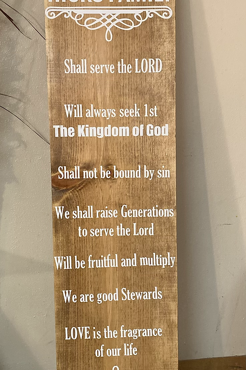 Family Declaration Sign (Legacy)