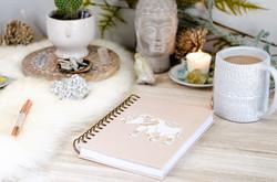 huiskamer met schrift