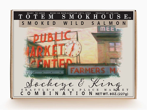 8 oz Smoked Wild Sockeye & King Salmon Combination Gift Box