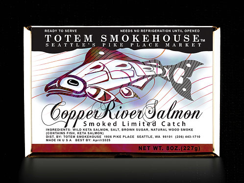 8 oz Smoked Wild Copper River Salmon Fillet Gift Box