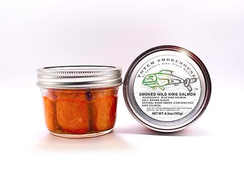 2-6.5 oz Smoked Wild King Salmon Jars
