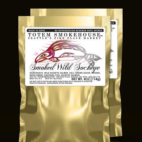 2-4 oz Smoked Wild Sockeye Salmon Fillets