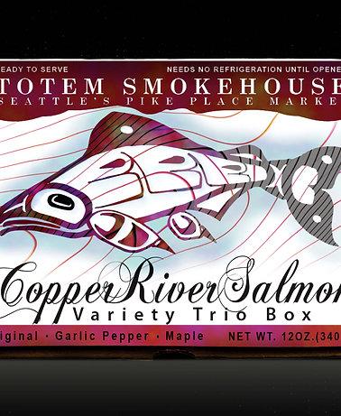 12 oz Copper River Variety Trio Salmon Fillet Gift Box