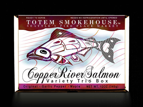 12 oz Copper River Variety Trio Salmon Fillet Gift Box