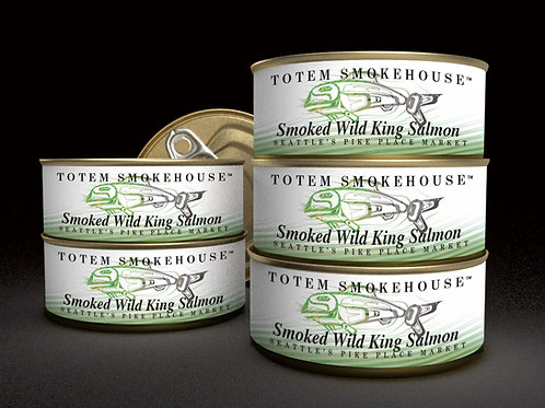 6-3 oz Smoked Wild King Salmon