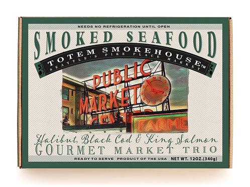 12 oz Smoked Seafood Trio Market Gift Box