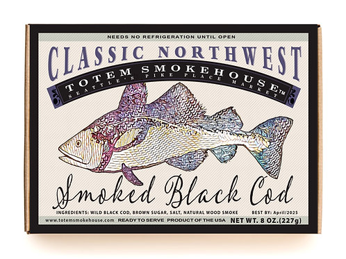 8 oz Smoked Black Cod Gift Box