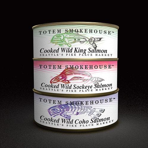 3-3.5 oz Cooked Wild Salmon Combination