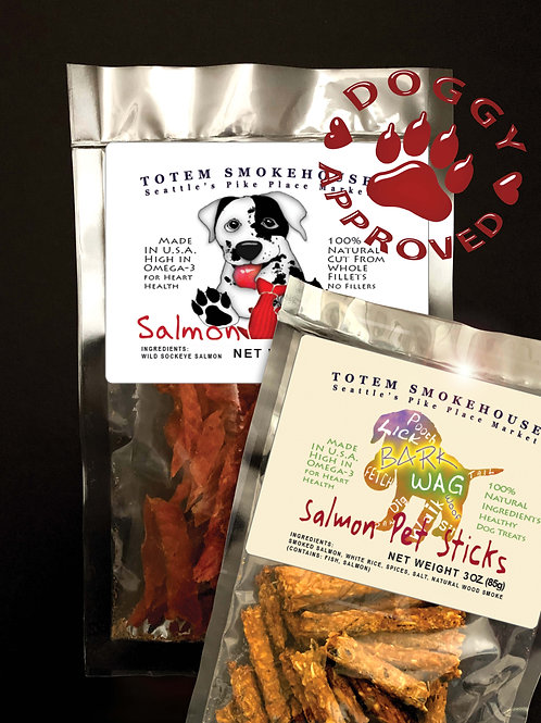 5 oz All Natural Salmon Dog Treat Combination