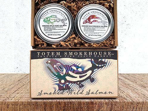 13 oz Smoked Wild Sockeye & King Salmon Combination Gift Box