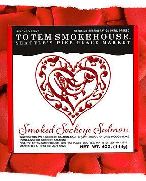 4 oz Smoked Wild Sockeye Salmon Limited Addition Gift Box