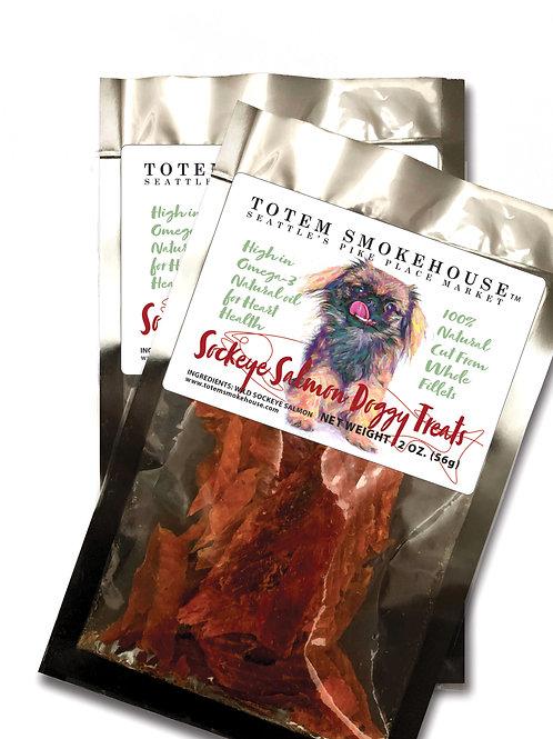 2-2 oz Wild Sockeye Salmon Dog Treats
