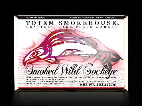 8 oz Smoked Wild Sockeye Salmon Fillet Gift Box