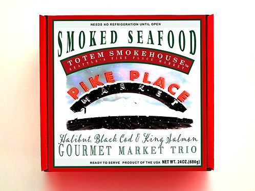 24 oz Smoked Seafood Trio Market Gift Box