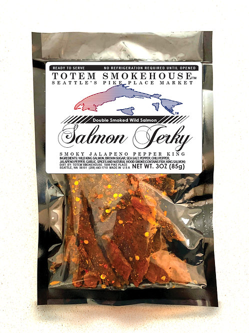 3 oz Jalapeno Wild King Salmon Jerky