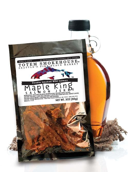 3 oz  Maple Wild King Salmon Jerky