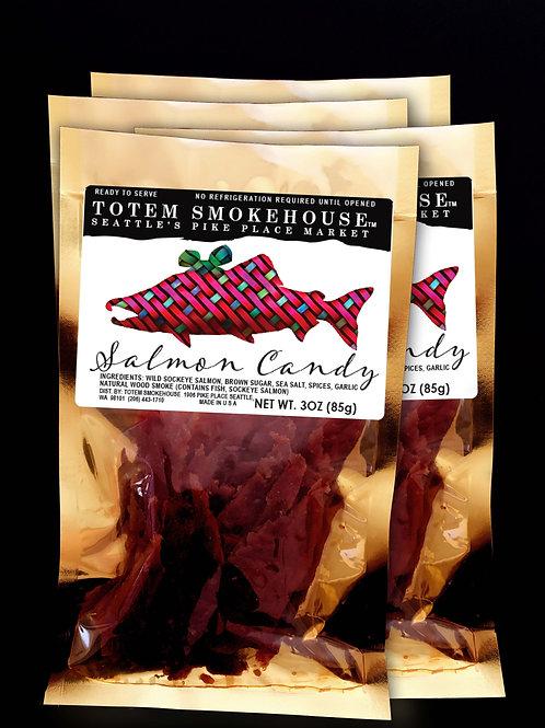 4-3 oz Wild Sockeye Salmon Candy