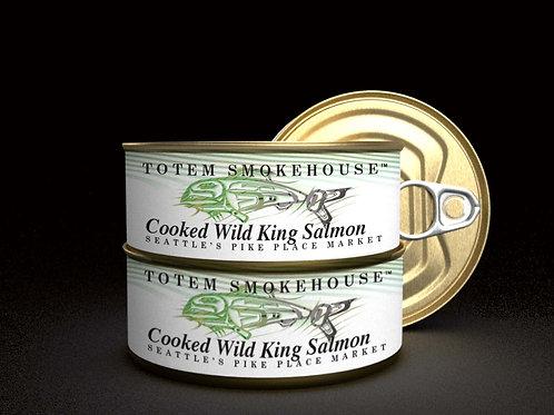 3-3.5 oz Cooked Wild King Salmon