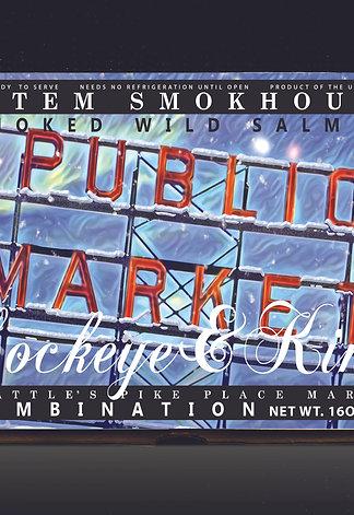 16 oz Smoked Wild Sockeye & King Salmon Market Holiday Gift Box