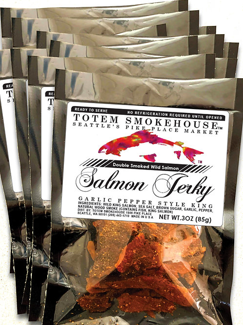10-3 oz Garlic Pepper Wild Salmon Jerky